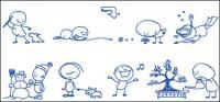 Kugelschreiber Zeichnung des Cartoon-Vektors materiell-2