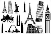 有名な外国の建築材料をベクトルします。