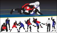 Material de vetor de wrestling