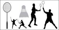 Matériau de vecteurs de silhouettes de badminton
