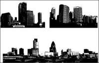 ขาวดำและเมืองที่สร้างวัสดุเวกเตอร์