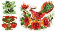 Handgemalte Stil Blumenschmuck Vektor-material