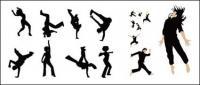 Material de vetor de pessoas dançando