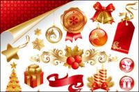สวยงามคริสต์มาสวัสดุสายเวกเตอร์