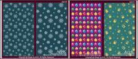 10 のかわいいベクトル クリスマス要素の背景の基本マップの場合