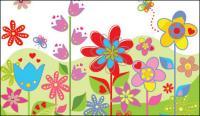 Encantadoras coloridas flores vectoriales