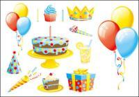 Der Ballon Kuchen Geschenk B�nder Vektor des Materials