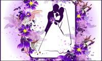 結婚テーマ レース ベクトル材料