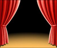 2 beautiful curtain vector of material