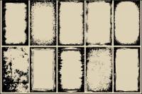 [fade] graffiti border vector of material