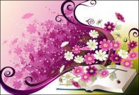 Tendencia floral vectorial -3