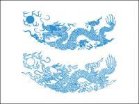 Material de vectores de patrón de Dragon