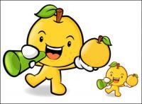 Amor Super cartoon frutas vector material 2