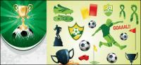 Vector de tema de fútbol