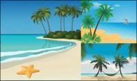 Paisajes de playa vector 5