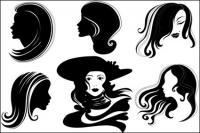 벡터 여성 머리