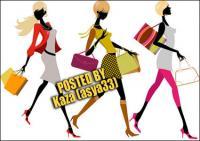 Mode Frauen-Vektor-material