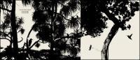 Vektor siluet pohon