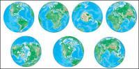 ناقل زوايا مختلفة من الأرض