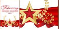 Vermelho 02 Bookmarks estrela com cinco pontas