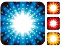 カラフルなベクトル放射パターン