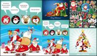 いくつかのかわいいクリスマス テーマ ベクトル