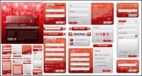 Estilo de Navidad de material de vectores de elementos de diseño Web