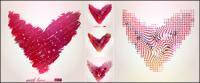 Patrón abstracto con forma de corazón de material de vectores