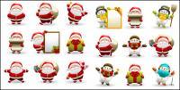 Lucu Santa Claus dan Snowman vektor