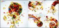 La tendance des graphiques colorés - vecteur
