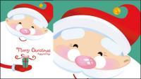 Adorable padre Navidad vectoriales