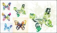 Hermosa mariposa - Vector