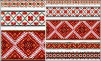 Beautiful costumes pattern 01 - Vector