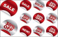 Crimpagem adesivos para venda Vector