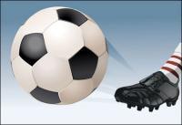Fútbol de vectores
