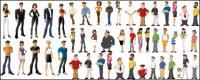 Alle Arten von Comic-Figuren - Vektor