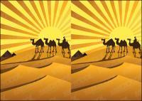 خيال الصحراء الذهبية الجمال متجهة