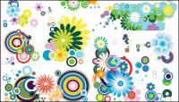 La tendencia de varias flores precioso elemento vector material