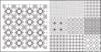 Benua vektor latar belakang pola ubin bahan