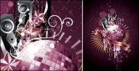 Discoteca, bola de cristal de danza Vector