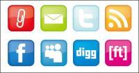 web 2.0 बटन चिह्न वेक्टर सामग्री