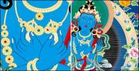 Religion Dunhuang murals vector