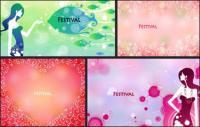 FESTIVAL festivais feminino padrão vector