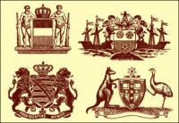 Estátuas, Leão, coroa, canguru, avestruz