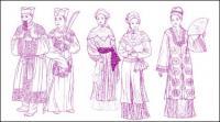 Tradisional Cina pakaian vektor