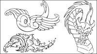 Tragar, olas, dragones, lotus, vela, Tiger