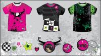 Diseño de la camiseta de vectores
