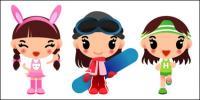 الفتيات التزلج، وتشغيل ناقلات الأمراض