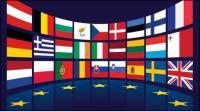Bandera de la UE de vectores de material