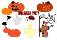 ハロウィーン、幽霊、カボチャ、くも、バット